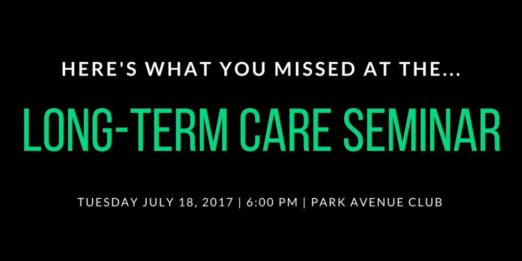 Here's What You Missed at the Bodnar Financial Long-Term Care Seminar