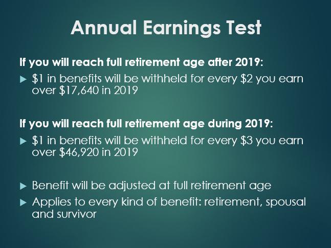 earnings test